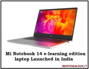 Mi Notebook 14 e-learning edition laptop Launched in India