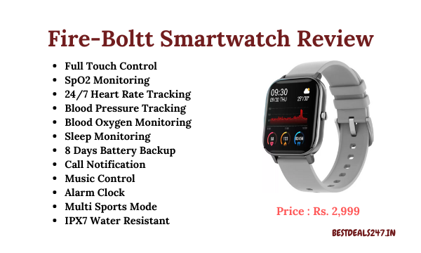 Fire-Boltt Smartwatch Review