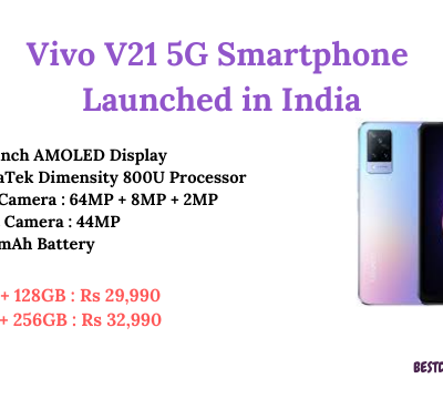 Vivo V21 5G Launched in India
