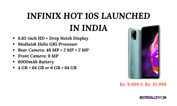 Infinix Hot 10S Launched in India