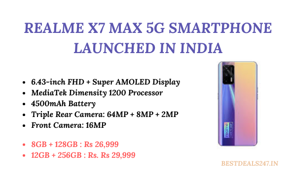 Realme X7 Max 5G Launched in India