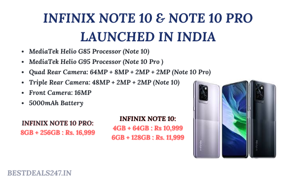 Infinix Note 10 & Note 10 Pro Launched in India