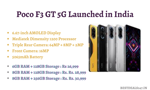 Poco F3 GT 5G Launched in India