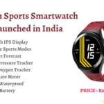 Urban Sports Smartwatch Launched in India